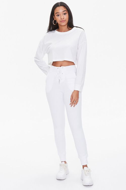 French Terry Lace-Up Joggers, image 1