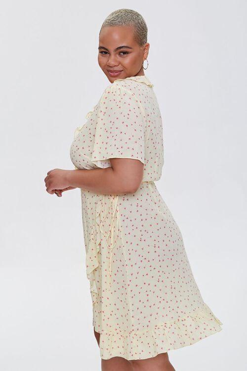 Plus Size Floral Print Wrap Dress, image 2