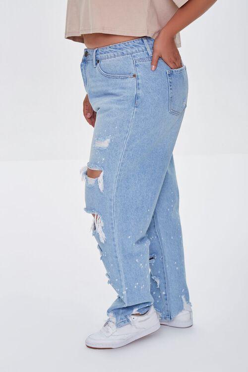 Plus Size Distressed Boyfriend Jeans, image 3