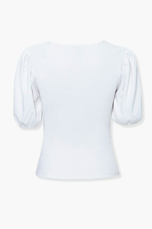 Ribbed Puff Sleeve Top, image 2