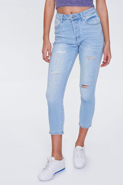 Distressed Petite Jeans, image 2
