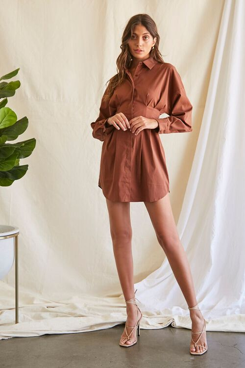 Dropped-Sleeve Shirt Dress, image 4