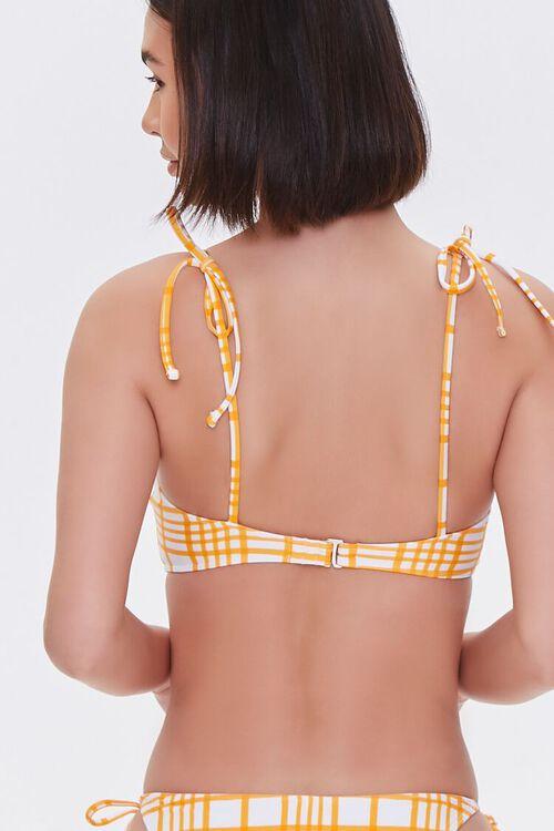 Plaid Tie-Strap Bikini Top, image 3