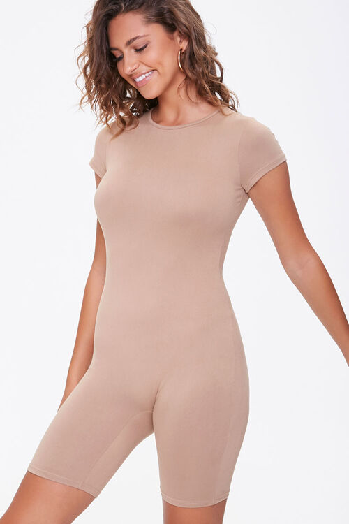 Fitted Short-Sleeve Romper, image 1