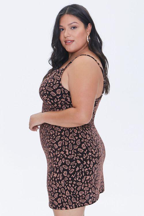 Plus Size Leopard Print Mini Dress, image 2