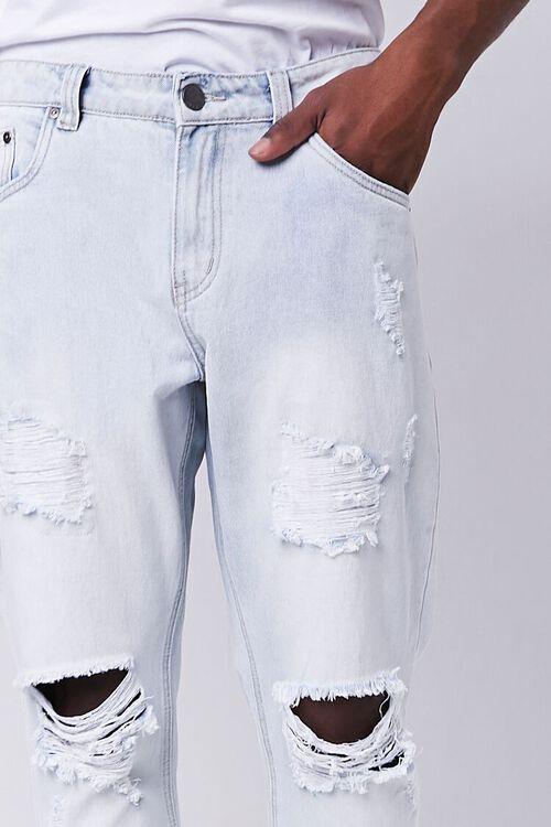 LIGHT DENIM Distressed Straight-Leg Ankle Jeans, image 5