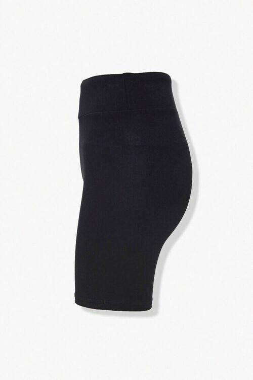BLACK High-Rise Biker Shorts, image 2