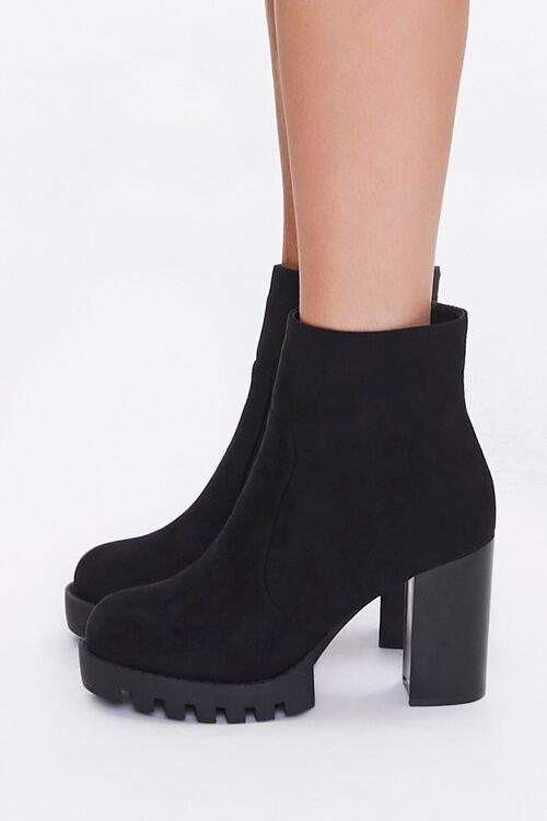 Velvet Block Heel Booties, image 2