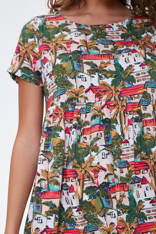 Tropical Town Print Dress, image 5