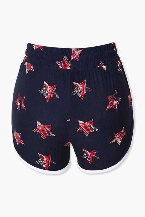 Paisley Star Print Ringer Shorts, image 3