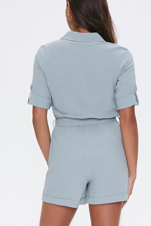 Cotton Button-Up Romper, image 3