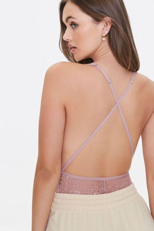 Plunging Cutout Lace Bodysuit, image 3