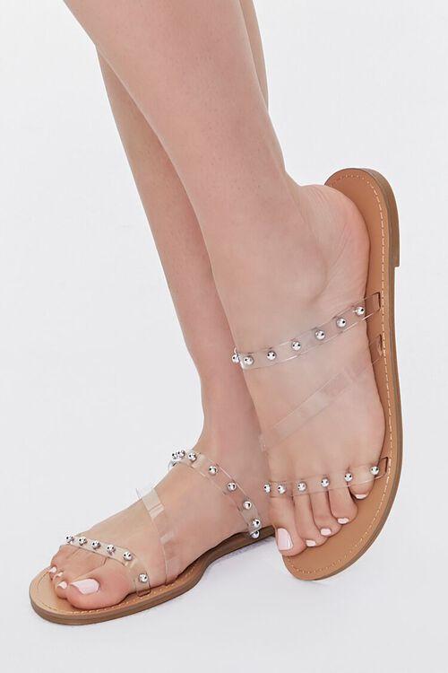 Transparent Ball Stud Flat Sandals, image 1