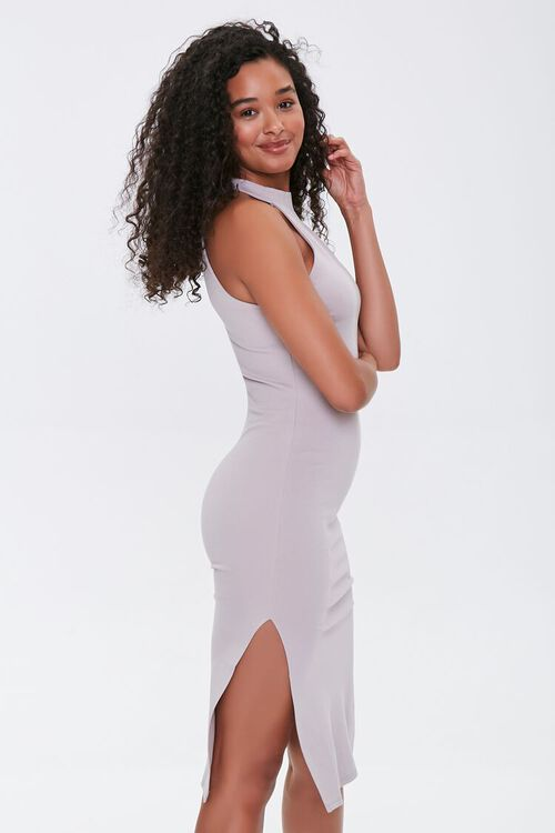 TAUPE High-Neck Bodycon Dress, image 2