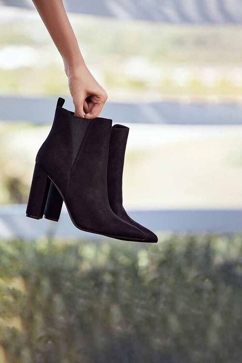 Faux Suede Pointed Toe Booties, image 1