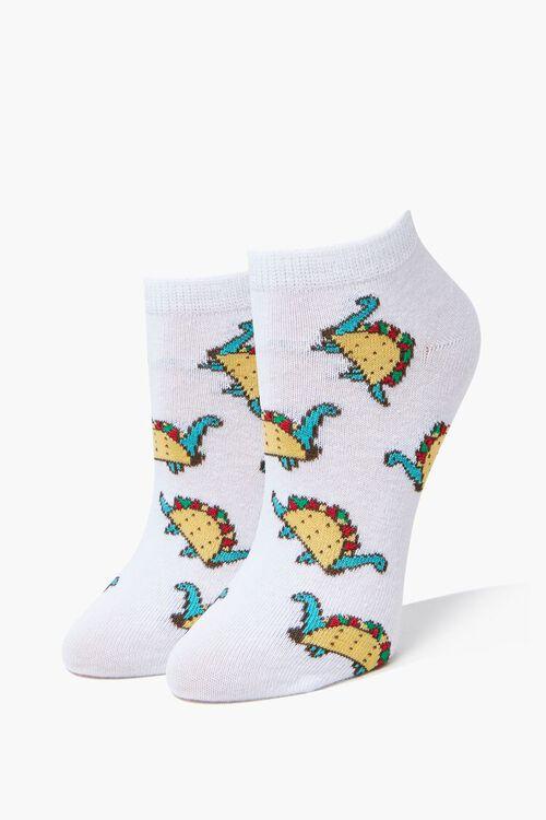 Dino Taco Ankle Socks, image 1