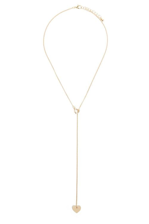 Dual Heart Charms Lariat Necklace, image 2