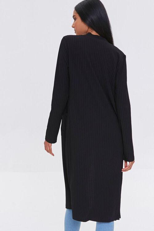BLACK Longline Cardigan Sweater, image 3