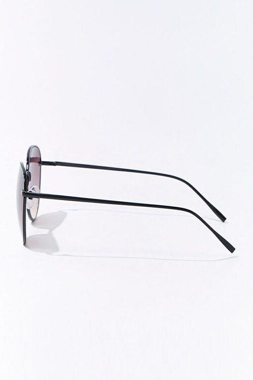 BLACK/BLACK Round Tinted Sunglasses, image 2