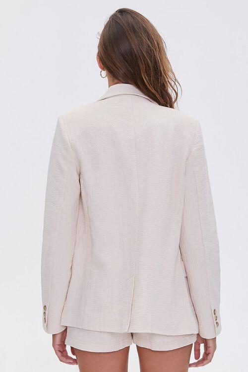 BEIGE Cotton-Blend Button-Front Blazer, image 3