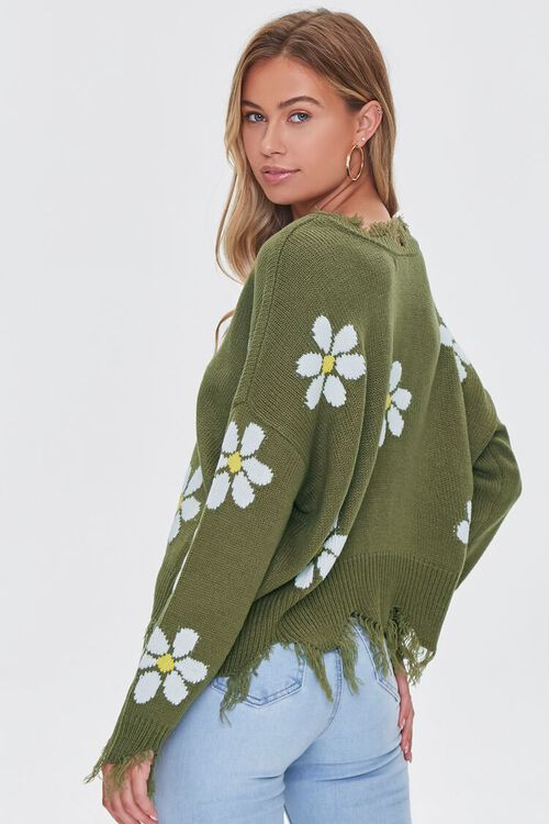 Distressed Daisy Sweater, image 3