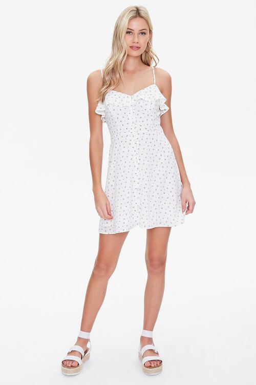 Ditsy Floral Mini Dress, image 4