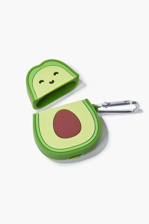 GREEN/MULTI Avocado Earbuds Holder Case, image 2