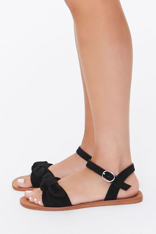 Faux Suede Knotted Sandals, image 3