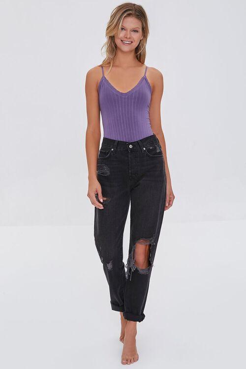 GRAPE Seamless Ribbed Bodysuit, image 4