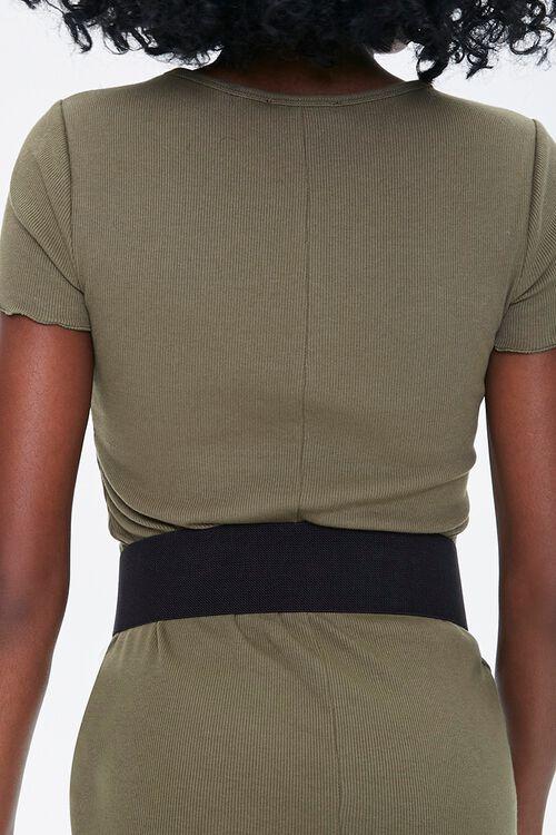 Faux Leather Wide Waist Belt, image 3