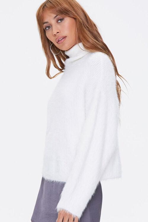 Fuzzy Knit Turtleneck Sweater, image 2