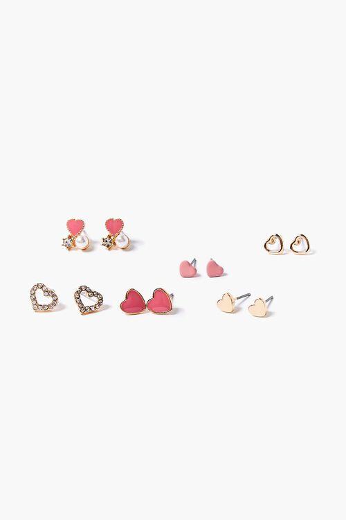 Heart Stud Earrings Set, image 1