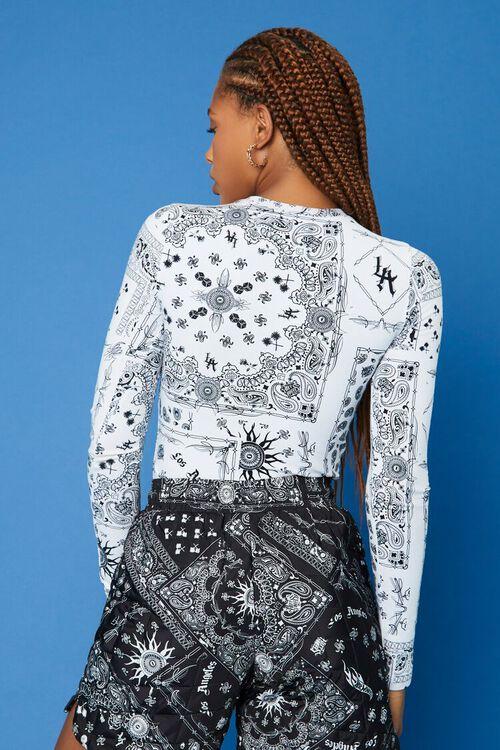 WHITE/BLACK Hot Wheels Paisley Bodysuit, image 3