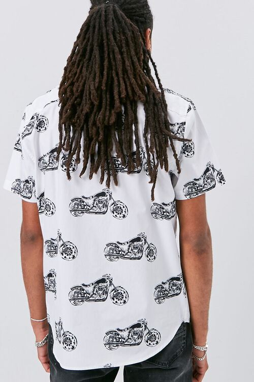 Motorcycle Print Fitted Shirt, image 3