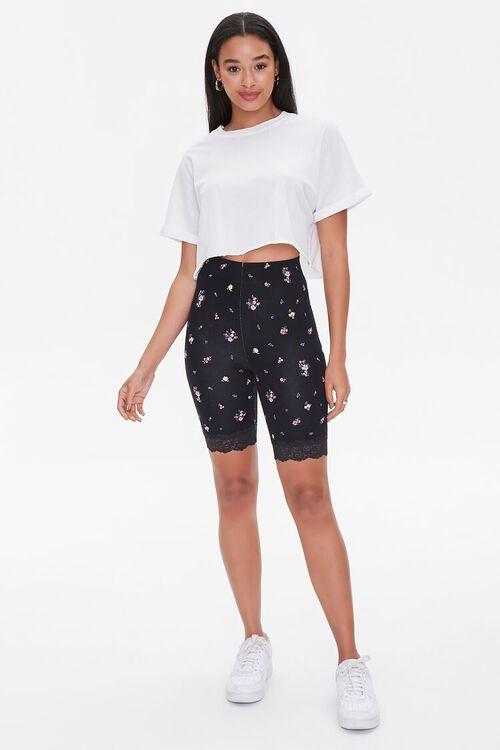 Floral Print Biker Shorts, image 5