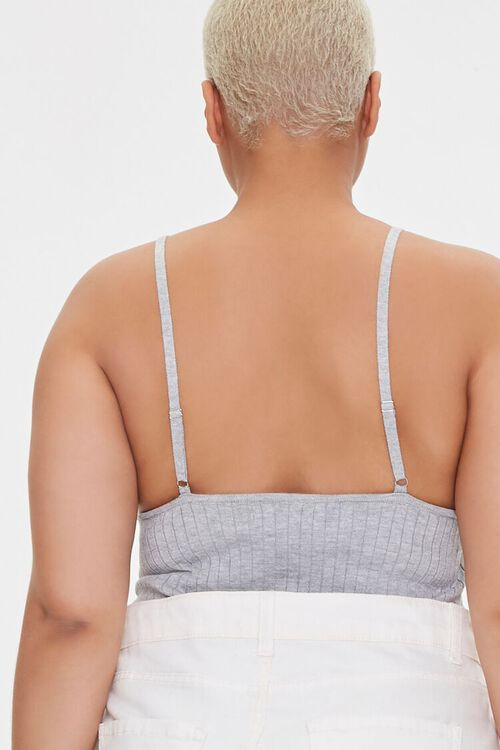 Plus Size Ribbed Cami Bodysuit, image 3