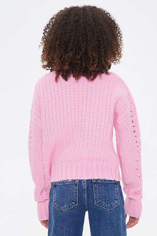 Girls Ribbed Mock Neck Sweater (Kids), image 3