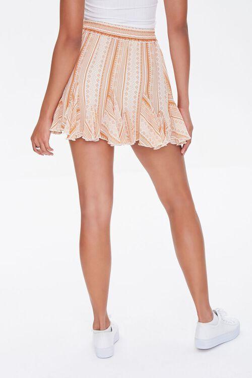 Ornate Print Godet Mini Skirt, image 4