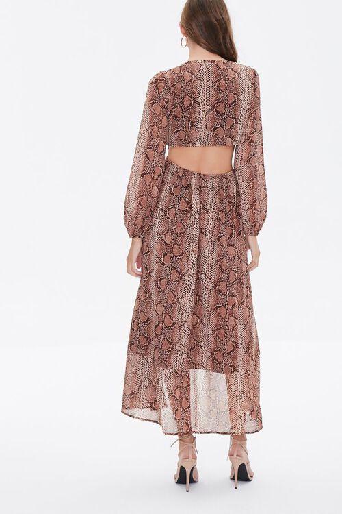 Snakeskin Print Cutout Dress, image 3