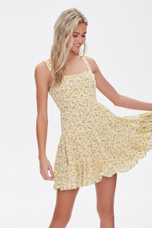 Floral Fit & Flare Mini Dress, image 1