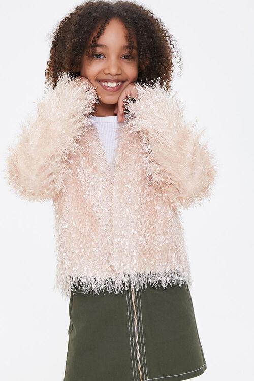 Girls Shaggy Knit Jacket (Kids), image 1