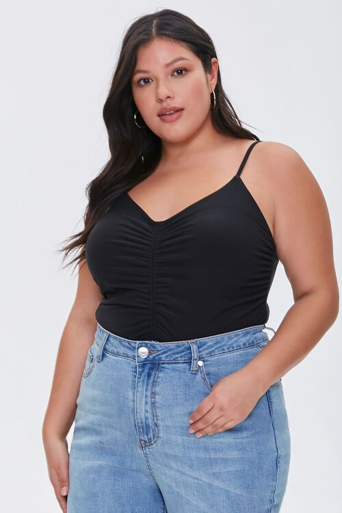 Plus Size Ruched Cami, image 1