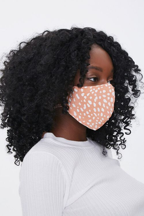 CORAL/MULTI Spotted Print Face Mask, image 1