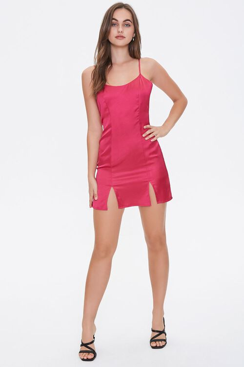 Satin M-Slit Mini Dress, image 4