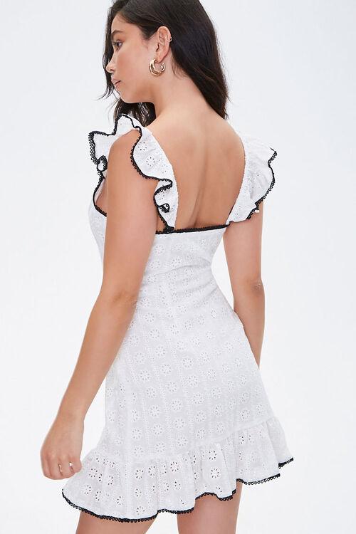 Eyelet Lace Mini Dress, image 3