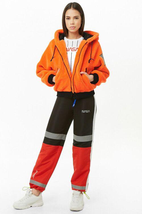 NASA Hooded Faux Fur Jacket, image 5