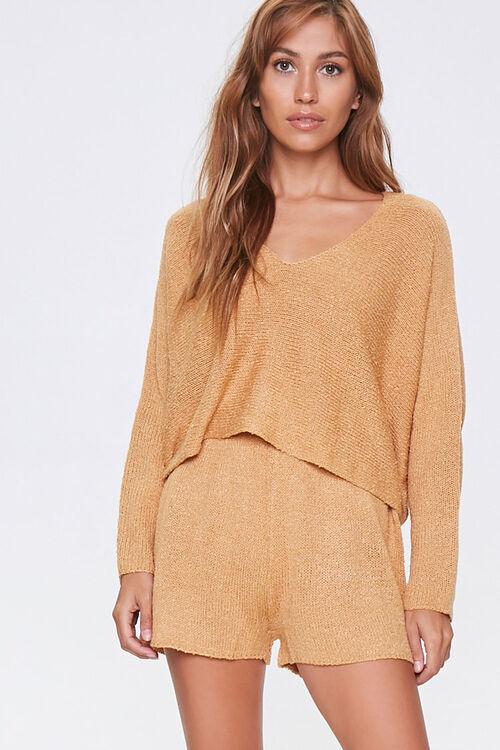 Boucle Knit Sweater & Shorts Set, image 1