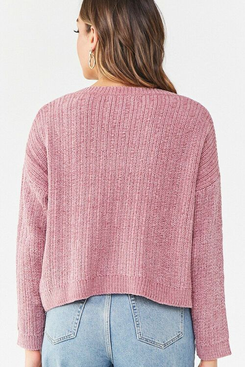 Chenille V-Neck Sweater, image 3