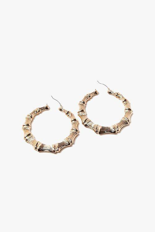 Oversized Bamboo Hoop Earrings, image 1
