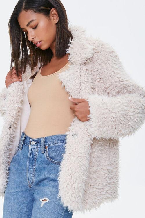 Shaggy Faux Fur Coat, image 1